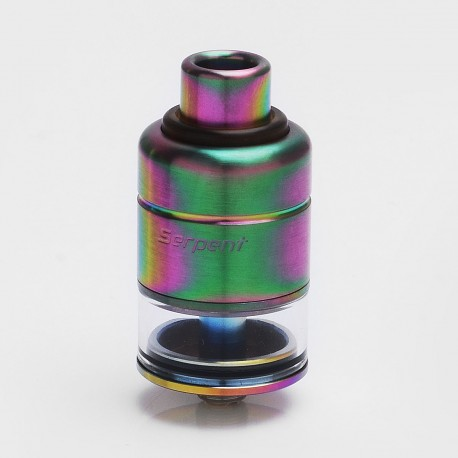 Authentic Wotofo Serpent RDTA Rebuildable Dripping Tank Atomizer - Rainbow, Stainless Steel + Glass, 2.5ml, 22mm Diameter