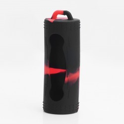 Authentic Vapesoon Protective Case Sleeve for 26650 Battery - Black + Red, Silicone