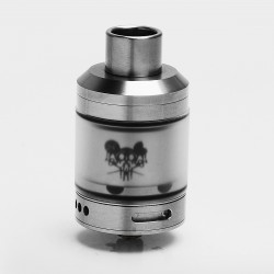 VapEasy Sherman Tank Style RTA Rebuildable Tank Atomizer - Silver, 316 Stainless Steel + Acrylic, 2ml / 4.5ml, 28mm Diameter