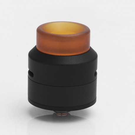 Authentic 528 Custom GOON LP Low Profile RDA Rebuildable Dripping Atomizer w/ BF Pin - Black, Stainless Steel + PEI, 24mm