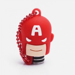 Universal 510 Drip Tip w/ Red Silicone Captain America Sleeve - Random Color, Stainless Steel + Resin, 18.6mm