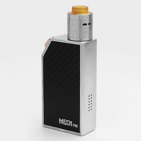 Authentic GeekVape Mech Pro Mechanical Box Mod + Medusa RDTA Atomizer Kit - Silver, Zinc Alloy, 2 x 18650