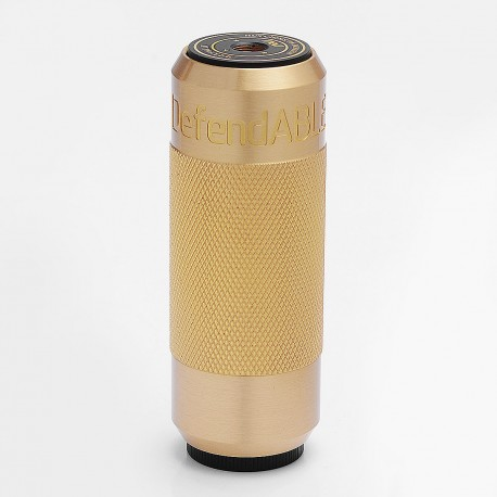 Defendable Able Style Mechanical Mod - Black + Knurled Brass, Brass, 1 x 18650