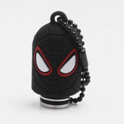 Universal 510 Drip Tip w/ Black Silicone Spider-Man Sleeve - Random Color, Stainless Steel + Resin, 18.6mm