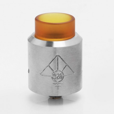 GOON MAX Style RDA Rebuildable Dripping Atomizer - Silver, Stainless Steel + PEI, 24mm Diameter