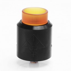 GOON MAX Style RDA Rebuildable Dripping Atomizer - Black, Stainless Steel + PEI, 24mm Diameter