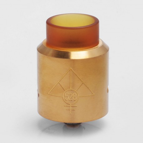 GOON MAX Style RDA Rebuildable Dripping Atomizer - Gold, Stainless Steel + PEI, 24mm Diameter