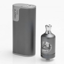 Authentic Aspire Zelos 50W 2500mAh TC VW Variable Wattage Mod + Nautilus 2 Tank Kit - Grey, 1~50W, 2ml, 0.7 Ohm