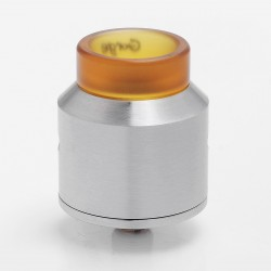 Authentic ADVKEN Gorge RDA Rebuildable Dripping Atomizer w/ BF Pin - Silver, Stainless Steel + PEI, 24mm Diameter