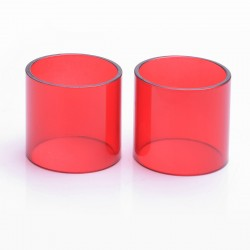 Authentic Iwodevape Replacement Glass Tank for SMOK TFV12 Atomizer - Red (2 PCS)