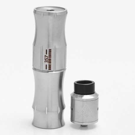 Bane SS Sith Edition HStone H-Stone Style Mechanical Mod + Goon Style RDA Kit - Silver, Stainless Steel, 1 x 18650