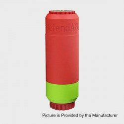 Saw Blade Defendable Able Style Mechanical Mod - Red + Green, Aluminum + Brass, 1 x 18650