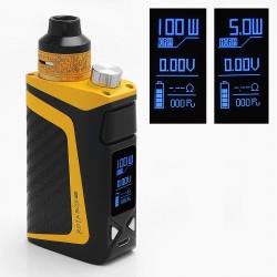 Authentic IJOY RDTA BOX MINI 100W 2600mAh TC VW Variable Wattage Mod Kit - Yellow, 6.0ml