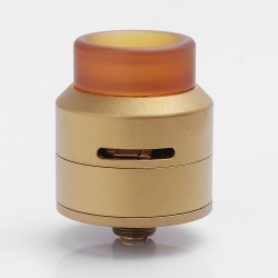 Authentic 528 Custom GOON LP Low Profile RDA Rebuildable Dripping Atomizer w/ BF Pin - Gold, Stainless Steel + PEI, 24mm