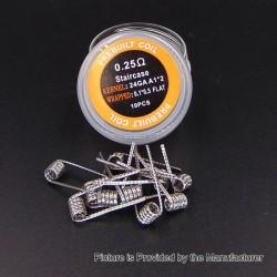 Authentic Iwodevape Staircase Kanthal A1 Prebuilt Coil - 24GA x 2 + 0.1 x 0.5, 0.25 Ohm (10 PCS)