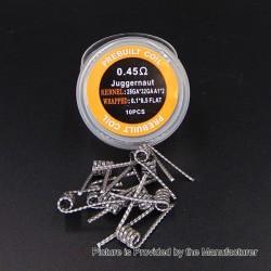 Authentic Iwodevape Juggernaut Kanthal A1 Prebuilt Coil - (28GA + 32GA) x 2 + 0.1 x 0.5, 0.45 Ohm (10 PCS)