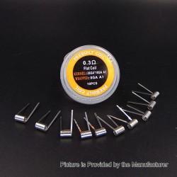 Authentic Iwodevape Flat Kanthal A1 Prebuilt Coil - 26GA x 18GA, 0.3 Ohm (10 PCS)