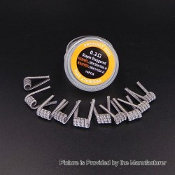 Authentic Iwodevape Staple Staggered Kanthal A1 Prebuilt Coil - (29GA x 20GA + 32GA x 24GA x 2) + 32GA, 0.2 Ohm (10 PCS)