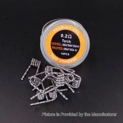 Authentic Iwodevape Torch Kanthal A1 Prebuilt Coil - 29GA x 20GA x 32GA, 0.2 Ohm (10 PCS)
