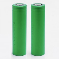 Authentic Sony US18650UTC5A UTC5A 18650 2600mAh 3.6V 35A High Discharge Flat Top Batteries - Green, (2 PCS)