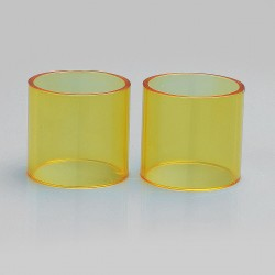 Authentic Iwodevape Replacement Glass Tank for SMOK TFV12 Atomizer - Yellow (2 PCS)