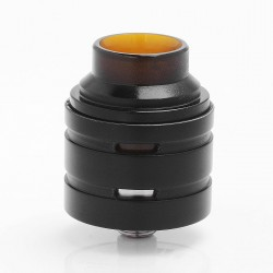 Haze2Five Style RDA Rebuildable Dripping Atomizer - Black, Stainless Steel, 25mm Diameter