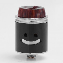 Authentic Jester RDA Rebuildable Dripping Atomizer - Black, Stainless Steel, 24mm Diameter