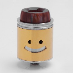 Authentic Jester RDA Rebuildable Dripping Atomizer - Gold, Stainless Steel, 24mm Diameter