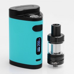 Authentic Eleaf Pico Dual 200W TC VW Box Mod with MELO III Mini Tank - Cyan, 1~200W, 100~315'C / 200~600'F, 2ml, 2 x 18650