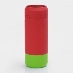 Defendable Able Style Replacement Sleeve - Red + Green, Aluminum