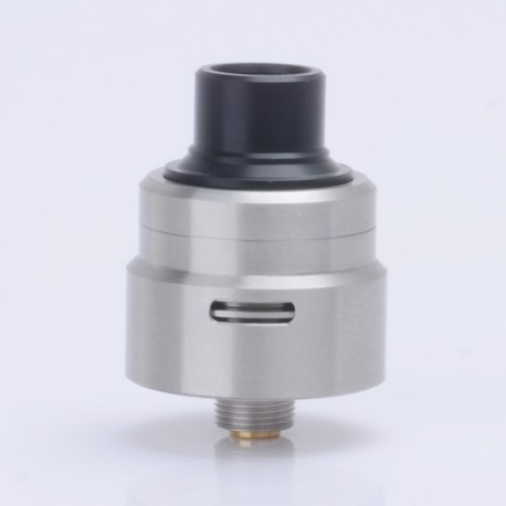 Armor 1.0 Style RDA Rebuildable Dripping Atomizer w/ Bottom Feeder Pin- Silver, Stainless Steel, 22mm Diameter