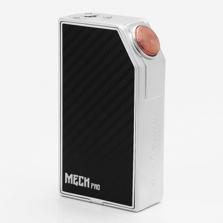 Authentic GeekVape Mech Pro Mechanical Box Mod - Silver, Zinc Alloy, 2 x 18650