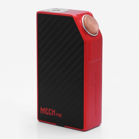 Authentic GeekVape Mech Pro Mechanical Box Mod - Red, Zinc Alloy, 2 x 18650