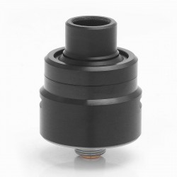 Armor 1.0 Style RDA Rebuildable Dripping Atomizer w/ Bottom Feeder Pin - Black, Stainless Steel, 22mm Diameter