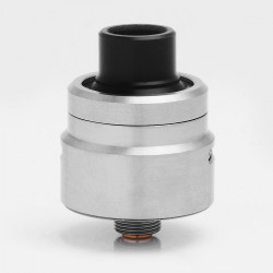 Armor 1.0 Style RDA Rebuildable Dripping Atomizer w/ Bottom Feeder Pin - Silver, Stainless Steel, 22mm Diameter