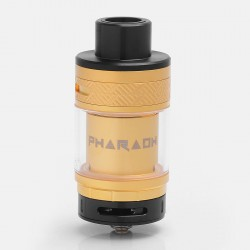 Authentic Digiflavor Pharaoh RTA Rebuildable Tank Atomizer - Gold, Stainless Steel, 4.6ml, 25mm Diameter