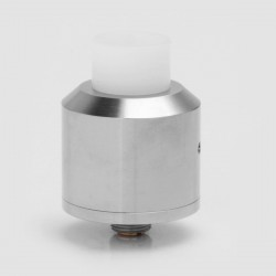 Coppervape NarDA Style RDA Rebuildable Dripping Atomizer w/ BF Pin - Silver, 316 Stainless Steel, 22mm Diameter