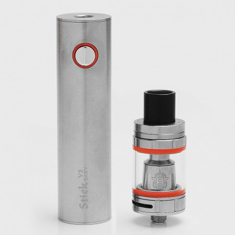 Authentic SMOKTech SMOK Stick V8 2000mAh Battery + TFV8 Baby Tank Kit - Silver, 3ml, 0.15 Ohm, 22mm Diameter, Standard Edition