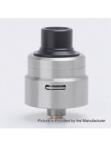 YFTK Armor 1.0 Style RDA Rebuildable Dripping Atomizer - Silver, 316 Stainless Steel, 22mm Diameter