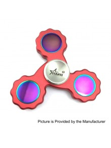 Starss Style Triangle Hand Spinner Fidget Toy - Red, Stainless Steel