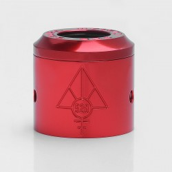 Authentic 528 Customs Gloss Replacement Top Cap + Sleeve for 24mm Goon RDA - Red, Aluminum, 24mm Diameter