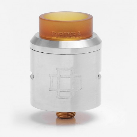 Authentic Augvape DRUGA RDA Rebuildable Dripping Atomizer - Silver, Stainless Steel, 24mm Diameter