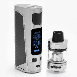 Authentic Joyetech eVic Primo Mini 80W TC VW Mod with ProCore Aries Atomizer Starter Kit - Silver, 1~80W, 4ml, 1 x 18650