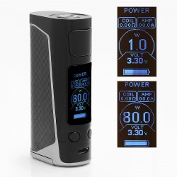 Authentic Joyetech eVic Primo Mini 80W TC VW Variable Wattage Mod - Black, 1~80W, 1 x 18650, 100~315'C / 200~600'F