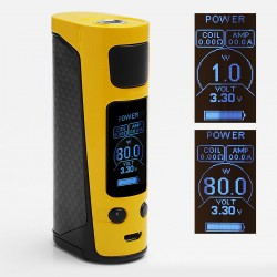 Authentic Joyetech eVic Primo Mini 80W TC VW Variable Wattage Mod - Yellow, 1~80W, 1 x 18650, 100~315'C / 200~600'F