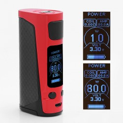 Authentic Joyetech eVic Primo Mini 80W TC VW Variable Wattage Mod - Red, 1~80W, 1 x 18650, 100~315'C / 200~600'F