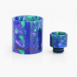 Authentic Demon Killer Replacement Tube + Drip Tip Kit for Eleaf Ijust S Tank Atomizer - Random Color, Resin