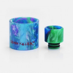 Authentic Demon Killer Replacement Tube + Drip Tip Kit for SMOKTech SMOK TFV8 Baby Tank Atomizer - Random Color, Resin
