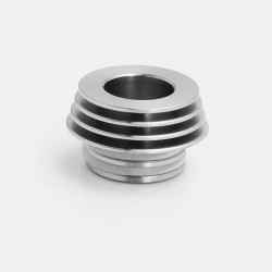 810 to 510 Heat Dissipation Drip Tip Adapter for RDA / RTA / Clearomizer - Silver, Stainless Steel, 12.5mm Diameter