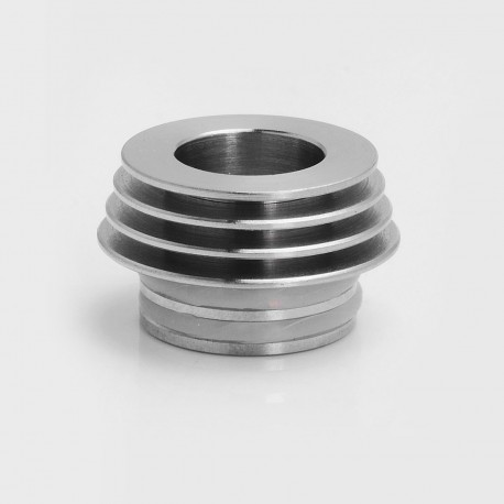 810 to 510 Heat Dissipation Drip Tip Adapter for RDA / RTA / Clearomizer - Silver, Stainless Steel, 12.8mm Diameter